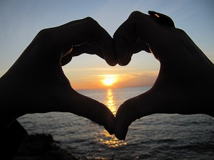 Image from http://www.bing.com/images/search?q=heart%20shaped%20hands%20sunset